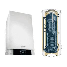 Пакетное предложение VIESSMANN VITODENS 200-W 12 -49(кВт) с бивалентным бойлером Vitocell 100-W тип CVBB  на  300 л, фото