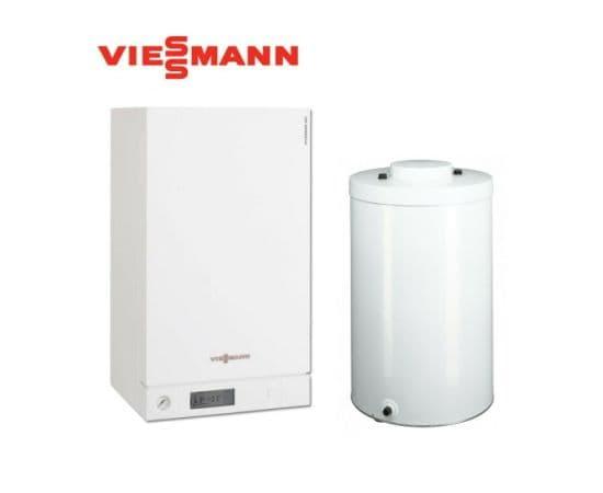 Пакетное предложение VIESSMANN VITODENS 100-W 35 (кВт) с бойлером Vitocell 100-W тип GUG на 120л, Мощность: 35, Объем бойлера: 120, Тип бойлера: Моновалентный, фото
